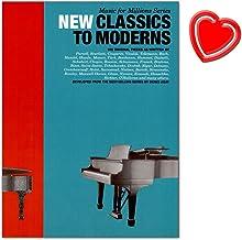 Music For Millions: New Classics To Moderns–Partituras para Piano con Bunter herzförmiger Ordenador Pinza