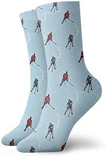 Pengyong, Pengyong - Calcetines deportivos para hombre y mujer (transpirables, para hockey sobre hielo, hockey sobre hielo, deportivos, para deportes y caminatas)