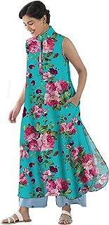 RADANYA Floral Printed Boho Long Kurta Kurti for Womens Party wear Tunic Kurta Kurti