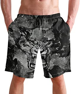 FFY Go Beach Shorts, Cool Tiger Vintage Printed Mens Trunks Swim Short Quick Dry with Pockets for Summer Surfing Boardshor...