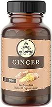 Naturevibe Botanicals 180 Ginger Root Capsules,100% Organic Ginger Root Powder, 600mg Per Serving   Veg Capsules   Gluten Free