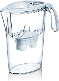 LAICA L606347 Carafe filtrante, Plastique, Blanc/Transparent, 28 x 8 x 7 cm