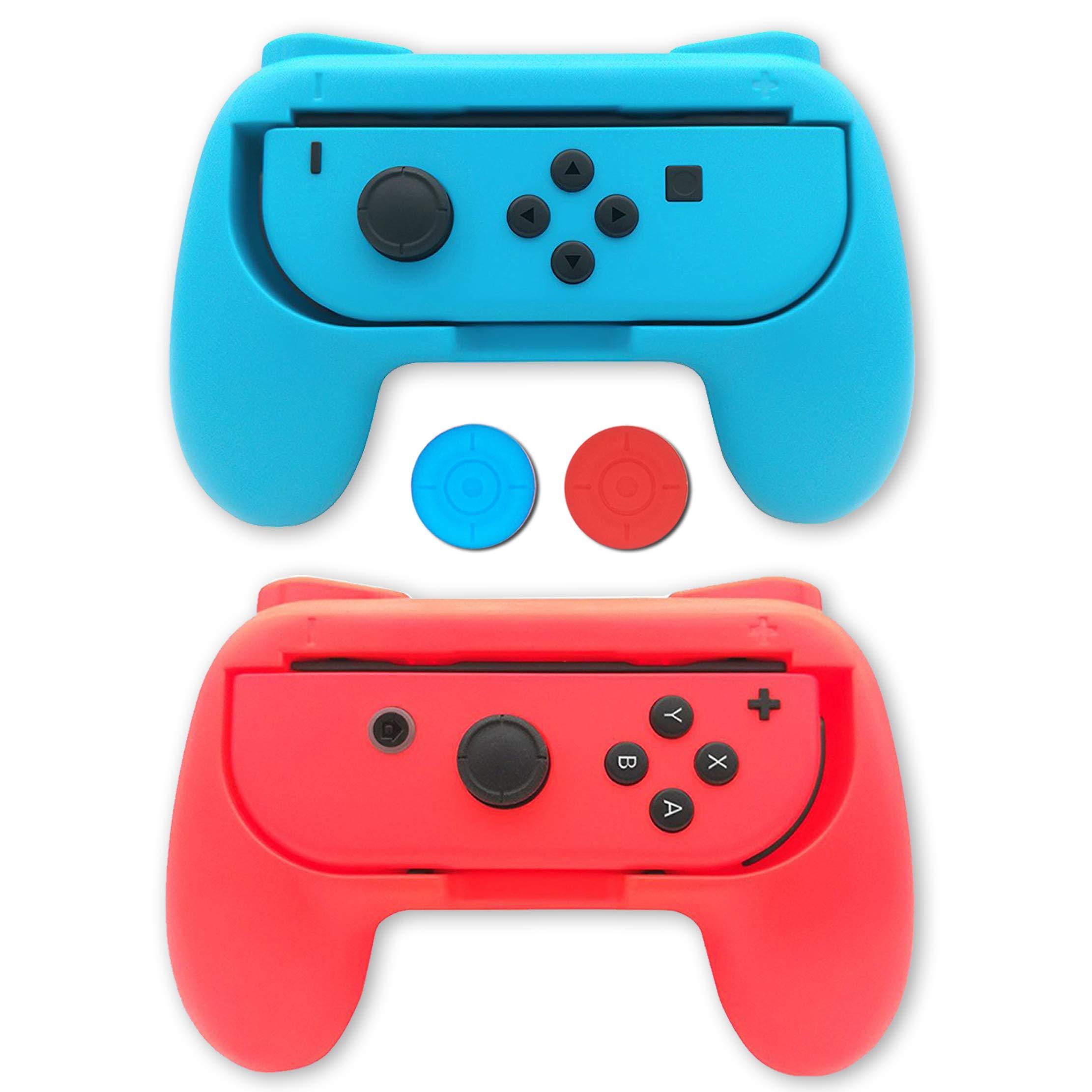 Raqueta de tenis para Nintendo Switch Mario Tennis Aces Game – Juego de 2 raquetas de tenis para interruptores Joy-Con Controllers, 2 paquetes (1 azul y 1 rojo): Amazon.es: Belleza