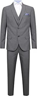 Harry Brown DANDY Three Piece Slim Fit Suit in Charcoal 34 to 50