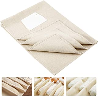 ANPHSIN Large Professional Bakers Dough Couche (35'' × 26'')- 100% Natural Flax Heavy Duty Linen Pastry Proofing Cloth for...
