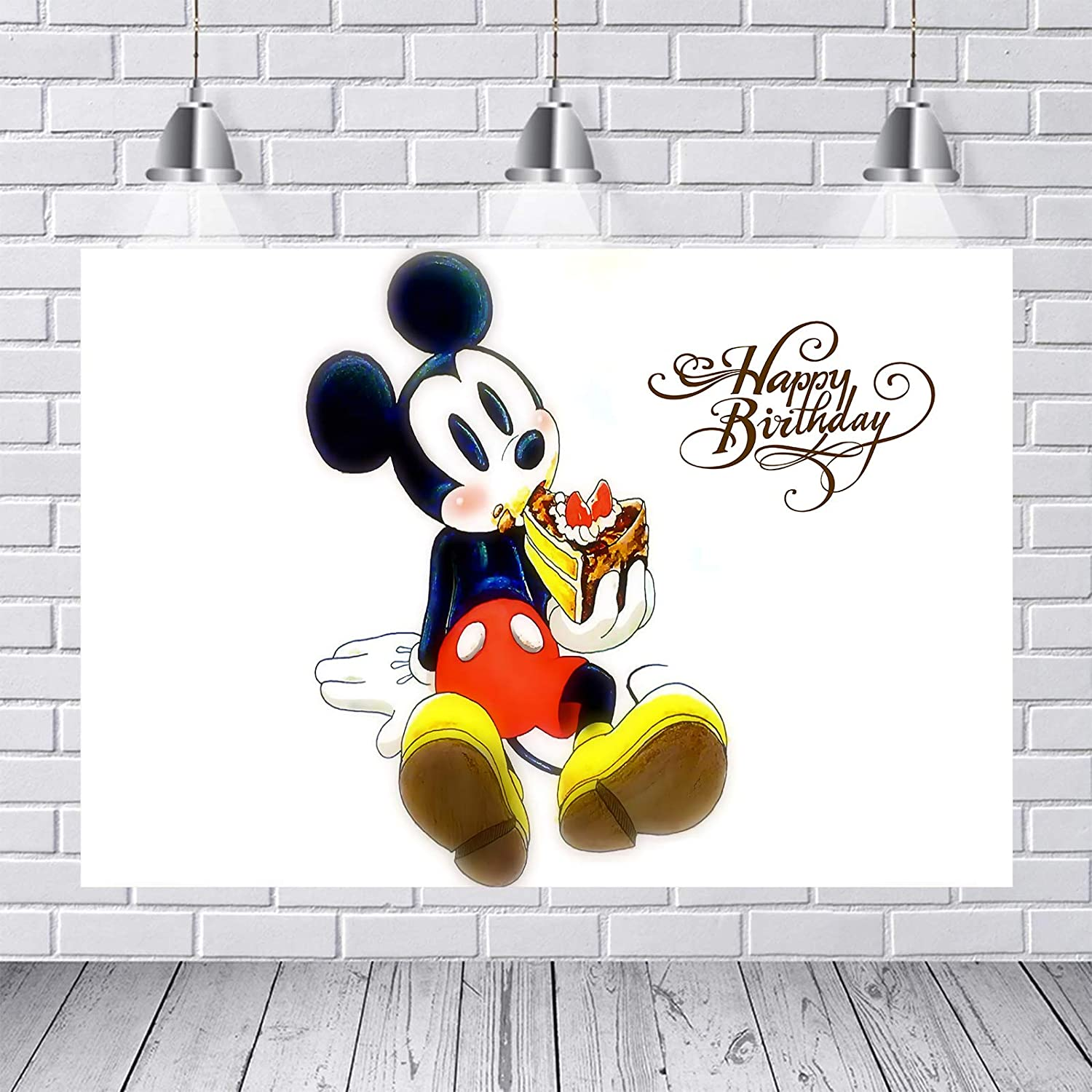 Colorful Mickey Free shipping on Max 81% OFF posting reviews Mouse Backdrop Shower for Baby Birt