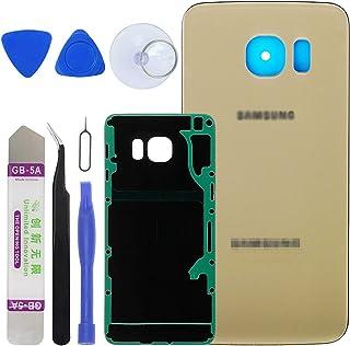 LUVSS استبدال الزجاج الخلفي الجديد لـ [Samsung Galaxy S6 Edge Plus] G928 (جميع الحاملات) غطاء خلفي غطاء زجاجي مع جزء إصلاح...