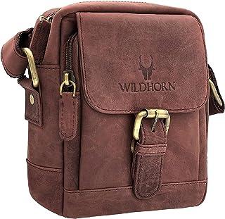 WILDHORN® Original Leather 9 inch Sling Bag for Men I Multipurpose Crossbody Bag I Travel Bag with Adjustable Strap I DIME...