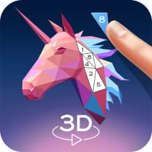 low poly 3d art: paint by number