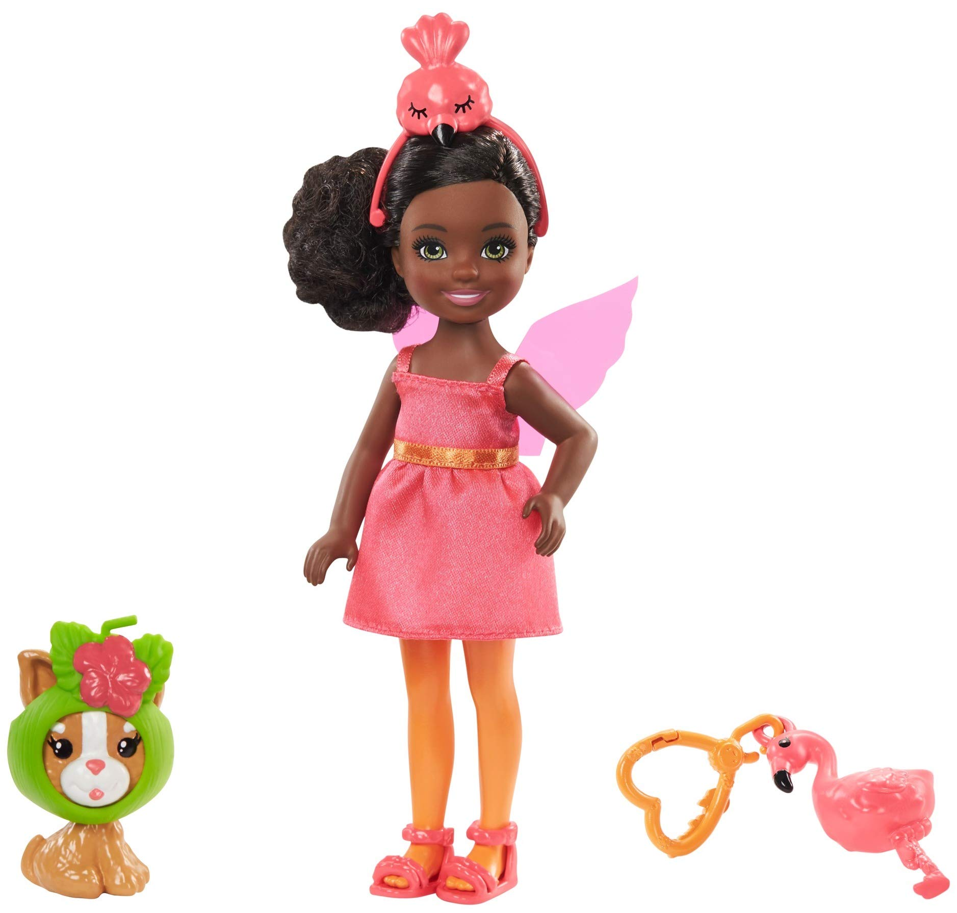 Amazon.es: Barbie Chelsea Disfraz de Flamingo, Muñeca con ...