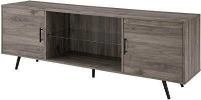 Amazon Com Novogratz Concord Tv Stand With Fireplace Walnut Furniture Decor
