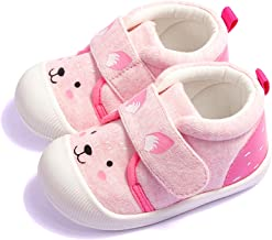 Running19 Baby Boys Girls Outdoor Cotton Breathable Sneakers Toddler Cartoon Rubber Soft Bottom Non-Slip First Walker Casual Shoes