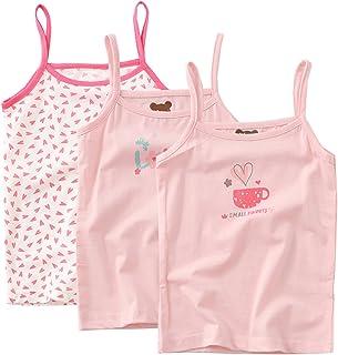 1db573f4ca01e1 Bevalsaキッズ キャミソール 女の子 3枚セット リボン 子供服 袖なし 可愛い インナー 子供 女児