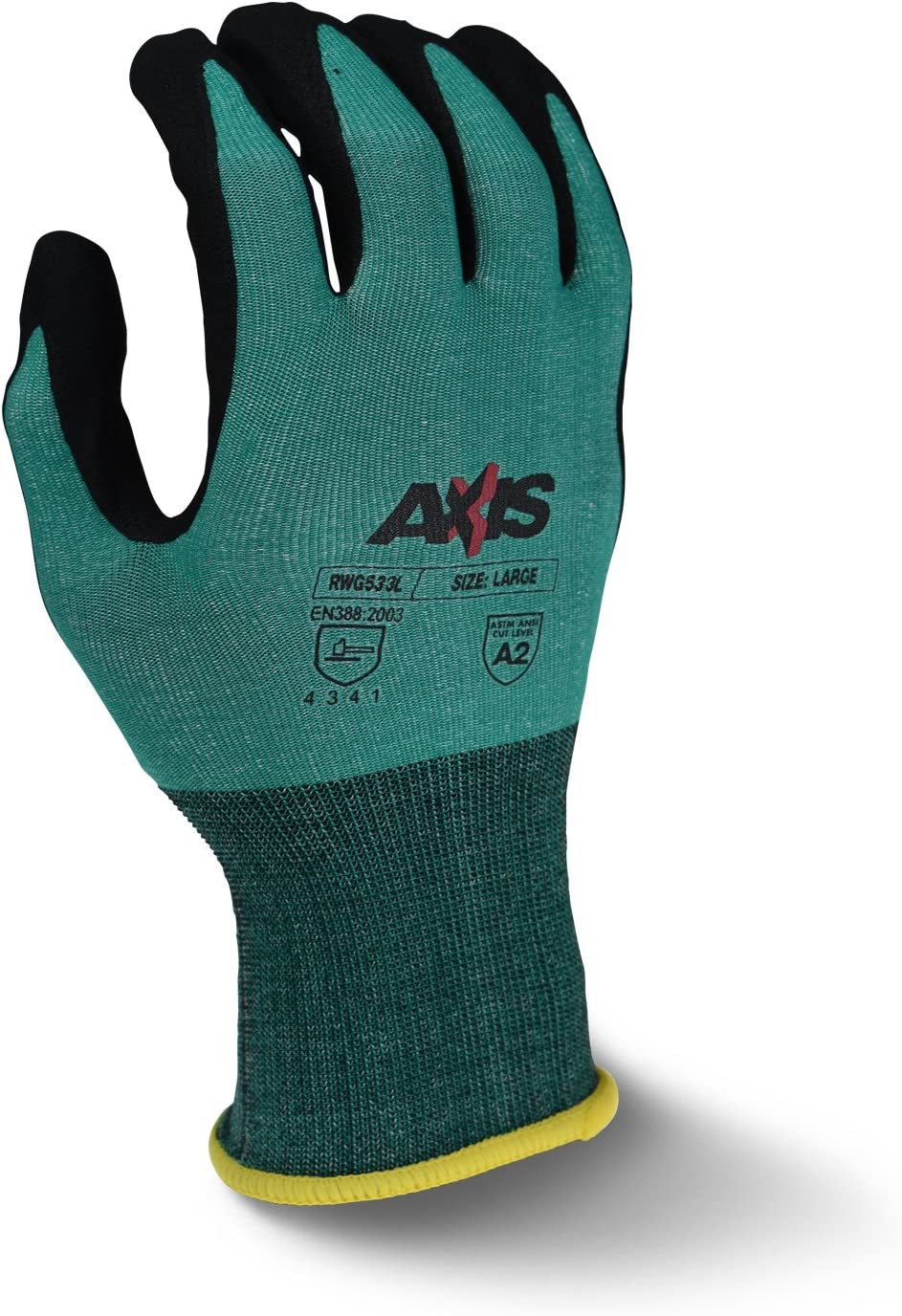 Radians RWG533XL Sale Special Price AXIS Cut Now on sale Protection Coated Gloves Nitrile Foam