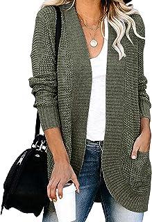 Women's Long Sleeve Open Front Cardigan Sweaters...