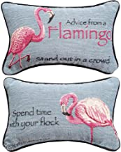 Manual Woodworkers Advice From a Flamingo Reversible 12.5 x 8.5 Inch Woven Decorative Throw Pillow