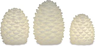 Apothecary & Company 3-Piece LED Pine Cone Set With Daily Timer