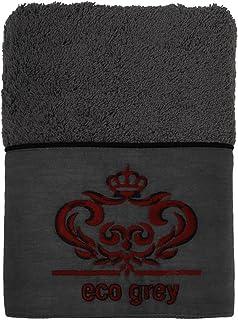 Ecocotton Organic Cotton (50x90cm) Hair and Head Towel Lyra Gray
