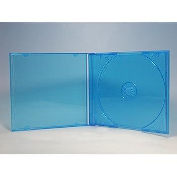 カラー CDケース1枚収納 5PACK / クリアブルー