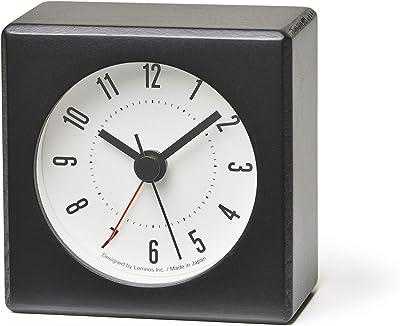 レムノス 置時計 アラーム時計 黒 メテオ JH17-05 BK Lemnos w7×h7×d4.2cm