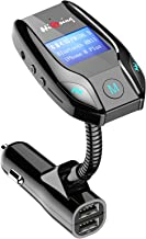 HiGoing Bluetooth FM Transmitter, Wireless Car Radio Adapter Receiver Car Kit with LCD Display, Dual USB Charging Port, Hands-free Calling for iPhone, Samsung, etc