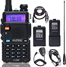 BaoFeng UV-5R 8 Watt High Power VHF UHF Dual Band Two Way Radio Tri-Power 8/4/1W Portable Ham Radio with one More 3800mAh Battery,Speaker, Antenna, USB Program Cable and Earpiece