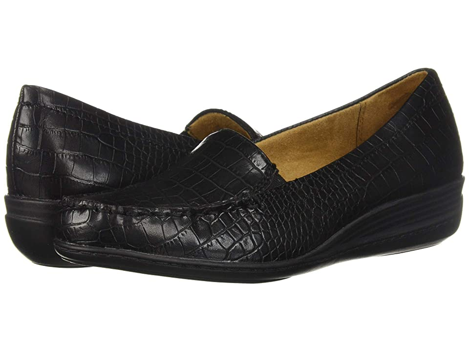 Natural Soul Wilamina (Black Croco Smooth) Women