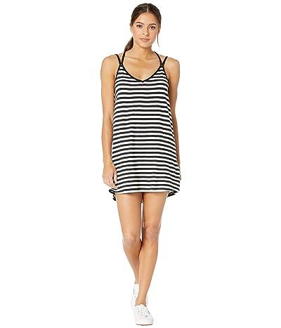 RVCA Vacay Strappy Tank Dress (Black/White) Women
