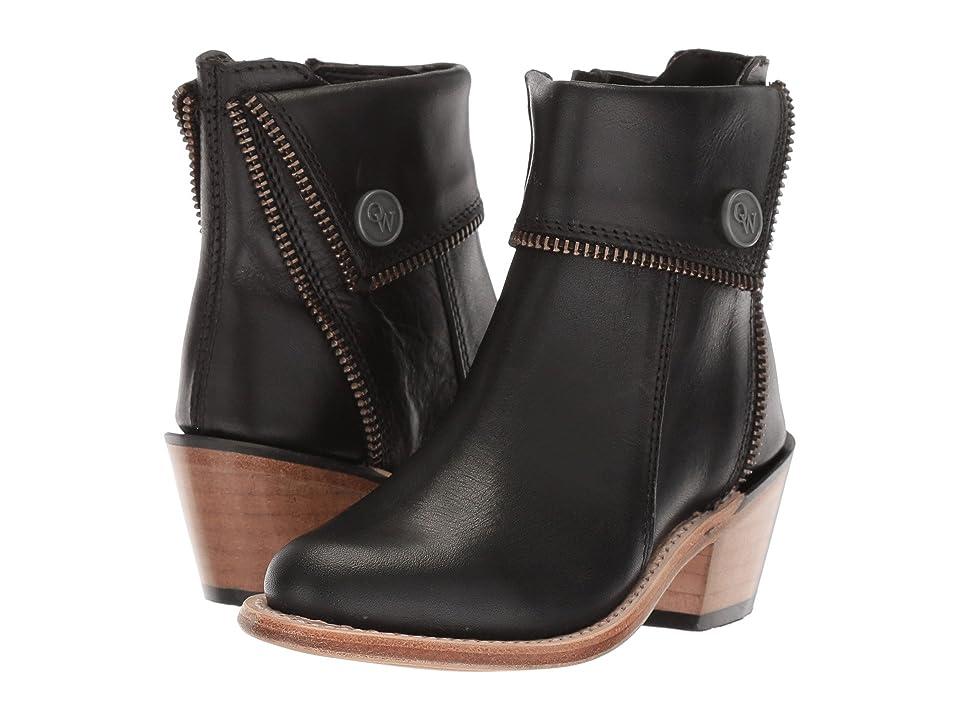 Old West Kids Boots Zipper Shoe Boot (Toddler/Little Kid) (Black) Cowboy Boots