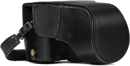MegaGear Ever Ready Leather Camera Case and Strap for Fujifilm X-T30, X-T20, X-T10 (16-50mm / 18-55mm Lenses)