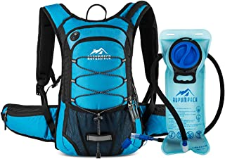 RUPUMPACK Insulated Hydration Backpack Pack with BPA Free 2L Water Bladder - Keeps Liquid Cool Up to 4 Hours, Fit Outdoor Gear for Hiking, Running, Cycling, Camping, Skiing, 15L