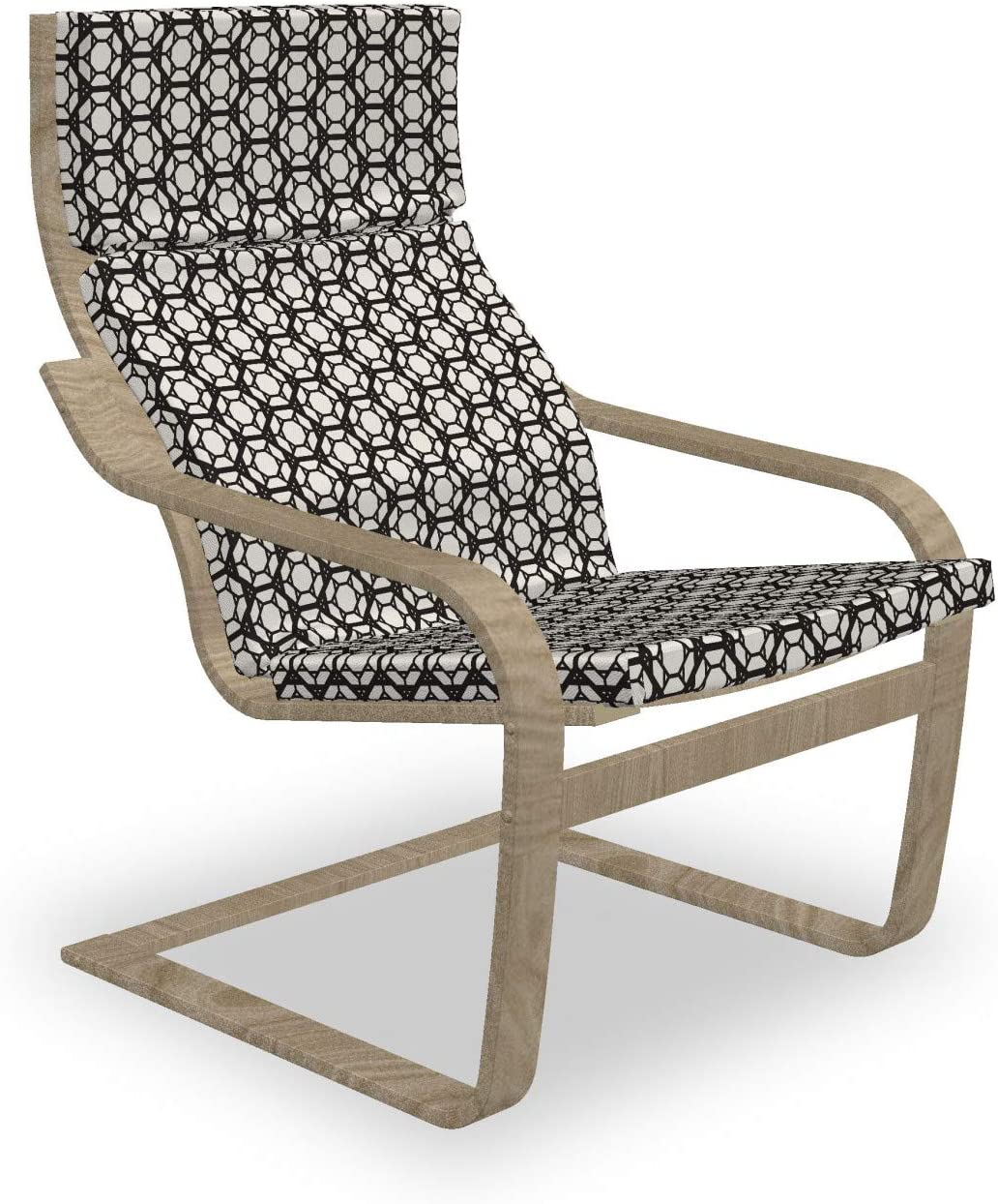 Ambesonne Retro Armchair Pad Indianapolis Mall Hexagonal Max 56% OFF and Slipcover Geometric
