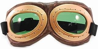 Aviator Goggles Accessory (Gold/Brown/Green)