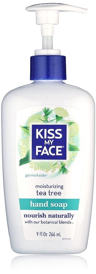 外向きピザ記念碑Kiss My Face Moisture Liquid Hand Soap, Germsaside Tea Tree, 9 oz Pumps (Pack of 6)