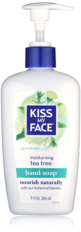 現実あいにく養うKiss My Face Moisture Liquid Hand Soap, Germsaside Tea Tree, 9 oz Pumps (Pack of 6)