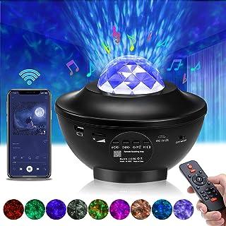 Projecteur Ciel Etoile, Elfeland Lampe Projecteur LED Télécommande Veilleuse Enfant Étoile avec Haut-Parleur Bluetooth et ...