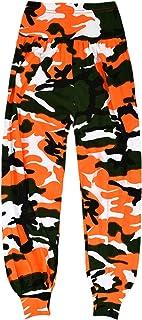 Aelstores - Pantalones de camuflaje de neón para niñas de 5 a 14 años