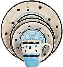 Harmony 2724623289311 Stoneware Dinner Set of 16, Blue, W 28.4 x H 27.4 x L 18.4 cm