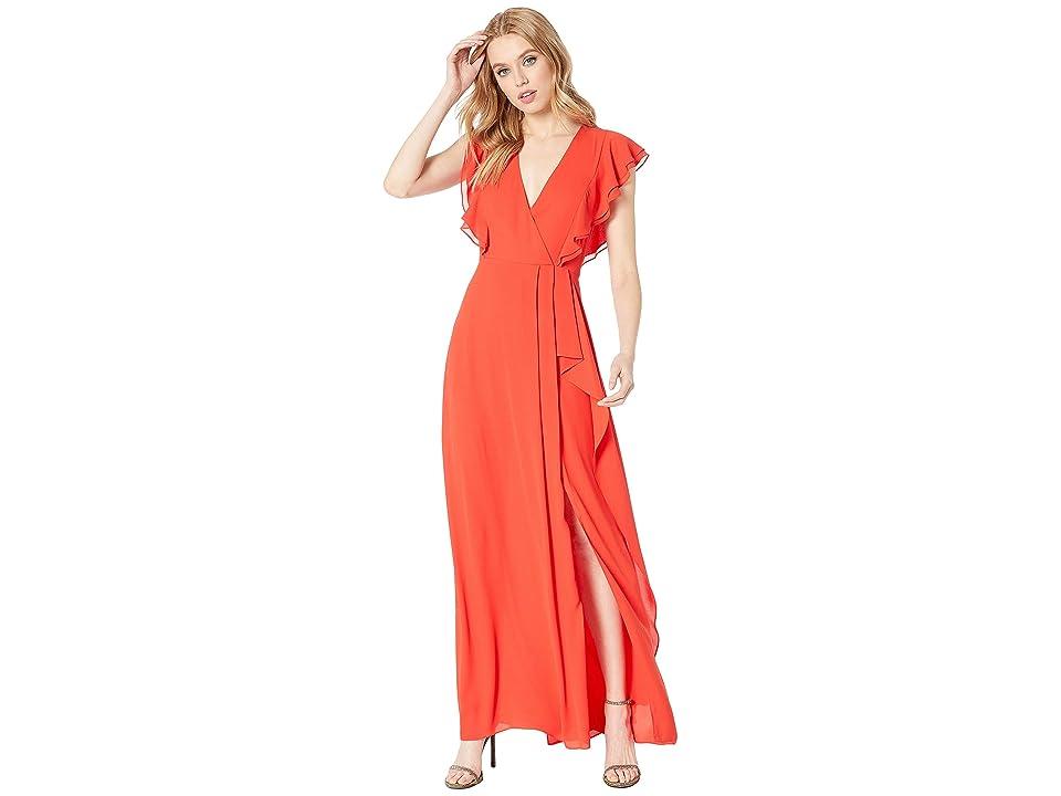 BCBGMAXAZRIA Callie Ruffled Gown (Bright Red) Women