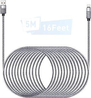 Cable Cargador iPhone 5M/16Ft MFI Cable Lightning Carga Rápida Trenzado de Nylon Cargador iPhone Compatible con Apple iPho...