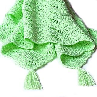 Green Ripple Crochet Baby Afghan