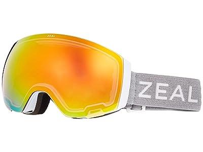 Zeal Optics Portal (White Out w/ Phoenix Mirror + Persimmon Sky Blue Lens) Snow Goggles
