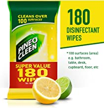 Pine O Cleen Disinfectant Surface Wipes, Lemon Lime Burst, 180 Wipes