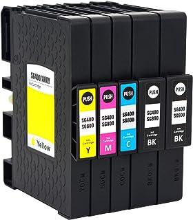 Sublimation Ink Cartridge Compatible for Sawgrass Virtuoso SG400 SG800 SG 400 SG 800 Printer (2 Black, 1 Cyan, 1 Magenta, ...
