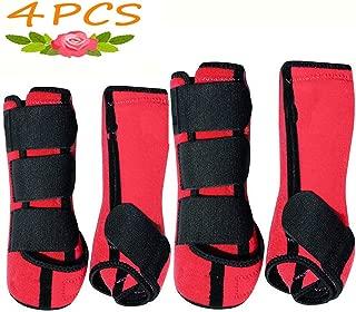 Brushing Boot Horse Stable Neoprene Travel Boots Leg Protection WRAP Black - Set of 4 Leg Wraps Safe Direct Contact Treats Sprains Bites Non Slip