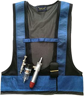 Hook and Loop Strap Tube Air Conditioner Waistcoat Vest with Aluminum Alloy Connector