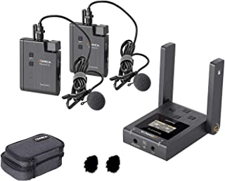 Comica BoomX-U U2 48 Channels Mini UHF Wireless Lavalier Microphone with 2 Transmitter and 1 Receiver Broadcasting-Level D...