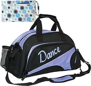 kilofly Girl`s Ballet Dance Sports Gym Duffel Bag Travel Carry On + Handy Pouch