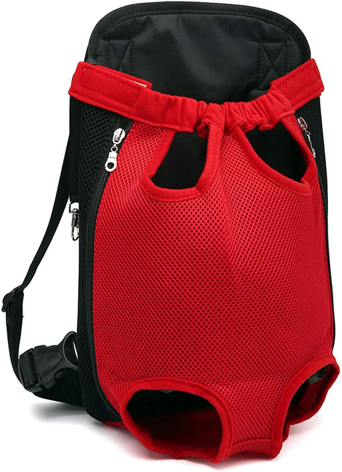 Pet Carrier,Legs Out FrontFacing Dog Carrier Backpack Hands Free Adjustable Pet Dog Backpack Carrier for Walking Hiking Bike and Motorcycle,XL,red