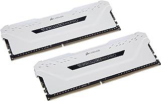 ذاكرة جهاز كمبيوتر مكتبي كورسير فينجنس RGB برو سعة 16 جيجا (2×8 جيجا)، DDR4 3600، (PC4-28800)، C18، لون ابيض